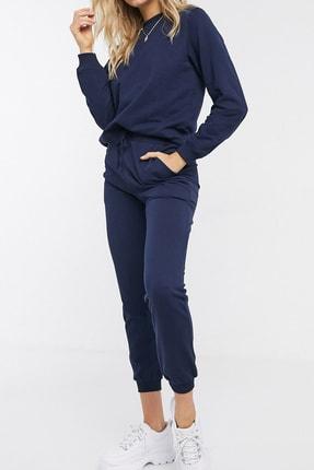 NARE Kadın Lacivert Pamuklu Pijama Takımı 2