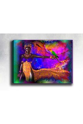 Shop365 Afrikalı Kız Kanvas Tablo 120x80 cm Sb-25347 0