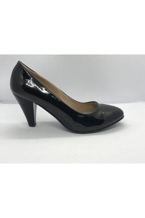 Kadın Siyah Topuklu Sitiletto Ayakkabı klasik topuklu ayakkabı 000014