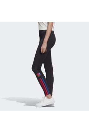 adidas Kadın Siyah  Adicolor 3d Trefoil Leggings Tayt 1
