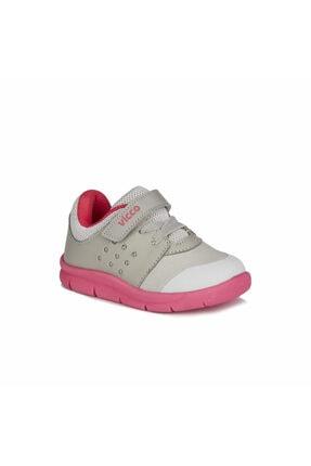 Vicco Kız Çocuk Gri Fuşya Mario  Spor Ayakkabı 0