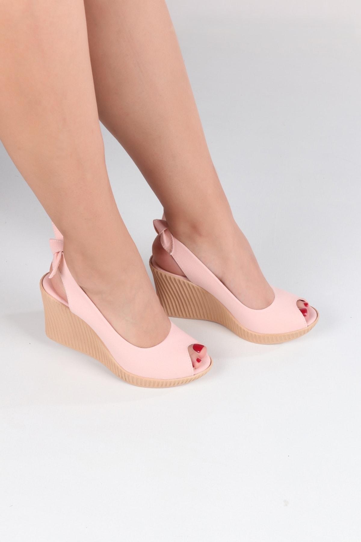 Lanina Kadın Pembe Dolgu Taban Sandalet