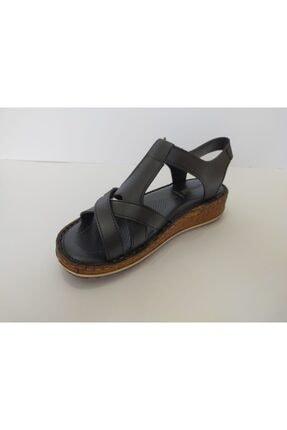 İpekçe Home Kadın Siyah Ortapedik Sandalet 3
