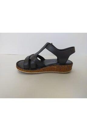 İpekçe Home Kadın Siyah Ortapedik Sandalet 4