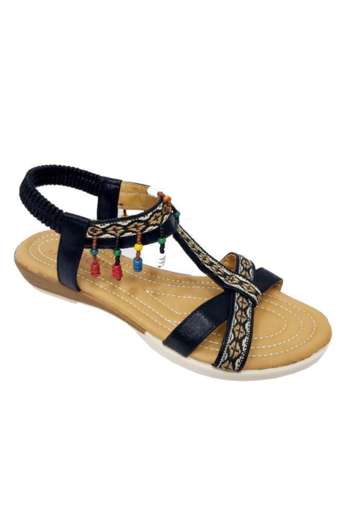 JENA Kadın Siyah Sandalet