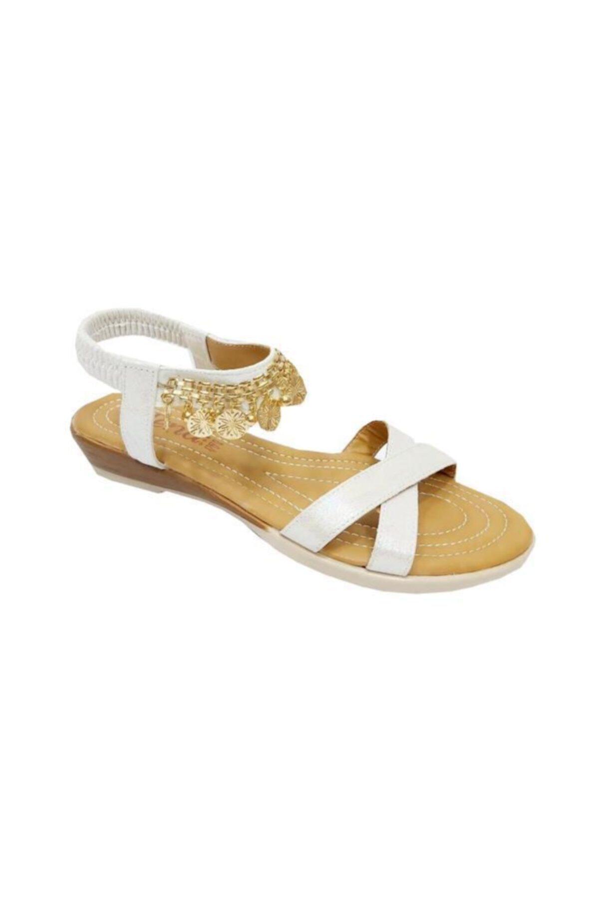 JENA Kadın Bej Sandalet