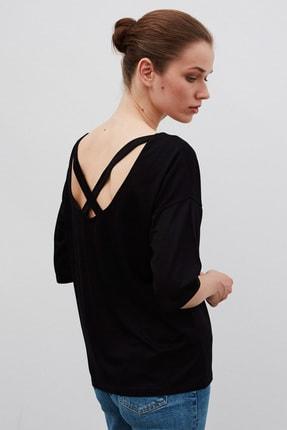 İpekyol Kadın Siyah Basic T-Shirt 2