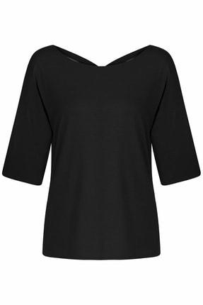 İpekyol Kadın Siyah Basic T-Shirt 4
