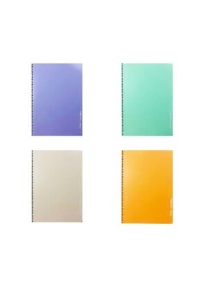 ÇINAR DİZAYN Pastel Renk Spiralli Defter 96 Yp. Çizgili A4 4'lü 0