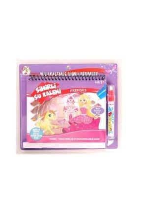 DEEMBRO Sihirli Boyama Kitabı Özel Kalemi Water Magic Boyama Prenses Serisi 0