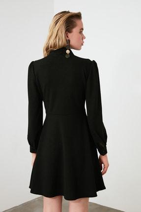 TRENDYOLMİLLA Siyah Bağlama Detaylı Örme Elbise TWOAW20EL2108 4