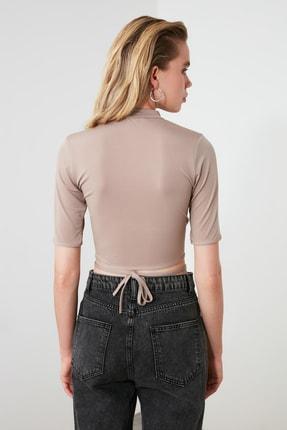 TRENDYOLMİLLA Vizon Bağlama Detaylı Örme Bluz TWOSS20BZ0156 3