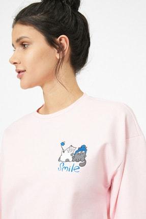 Koton Pembe Kadın Sweatshirt 1