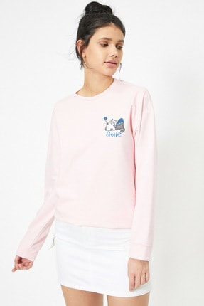 Koton Pembe Kadın Sweatshirt 0