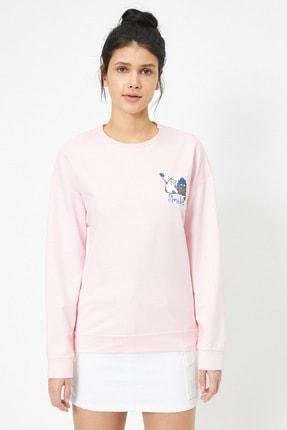 Koton Pembe Kadın Sweatshirt 2