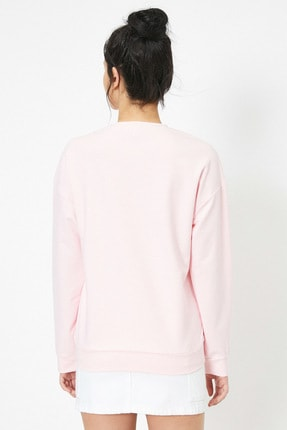 Koton Pembe Kadın Sweatshirt 3