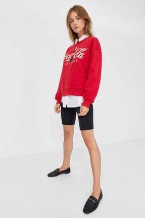Stradivarius Kadın Kırmızı Coca-Cola Baskılı Sweatshirt 06614699 2