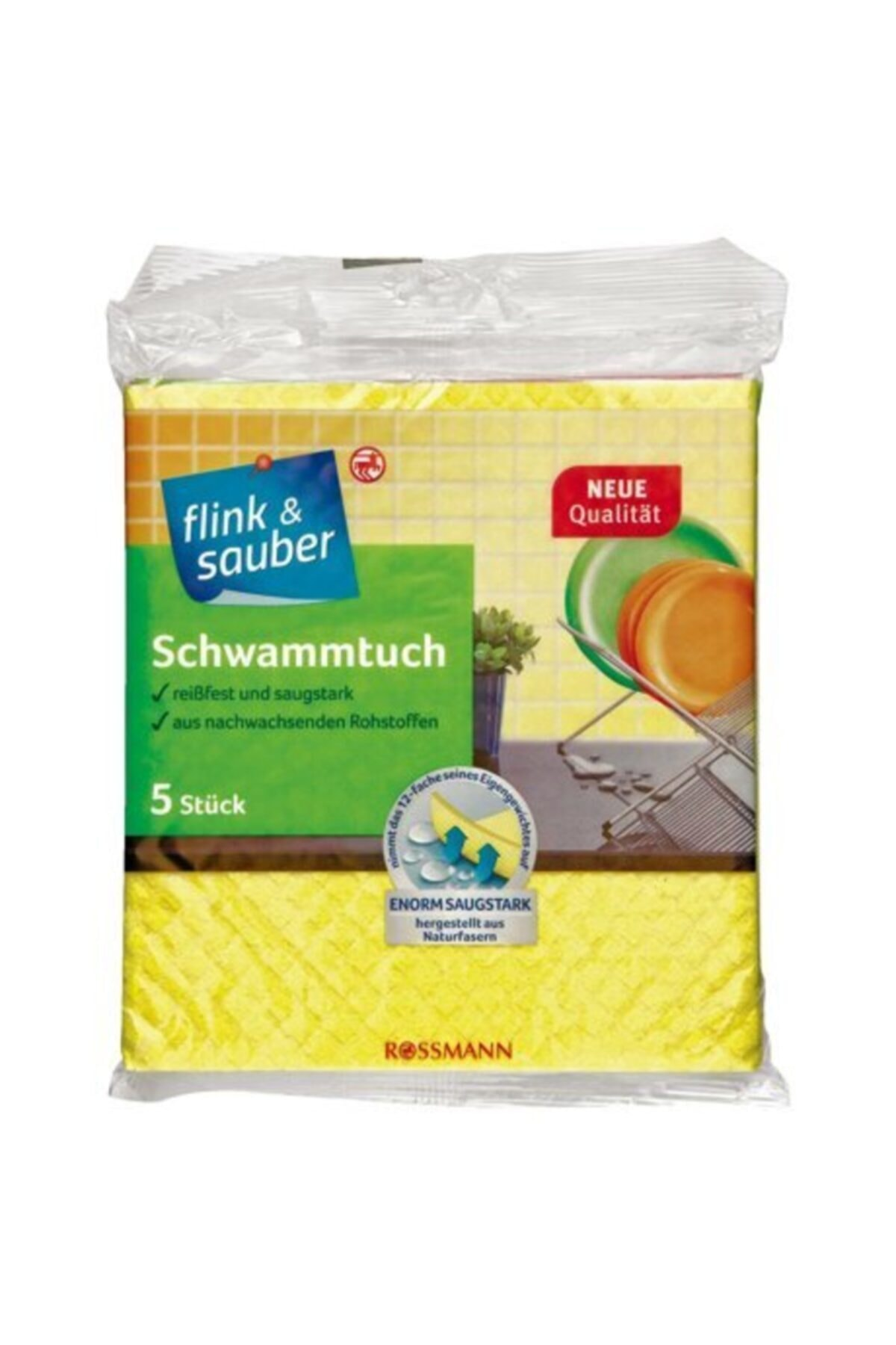 Flink & Sauber Renkli Sünger Bezler 5'li
