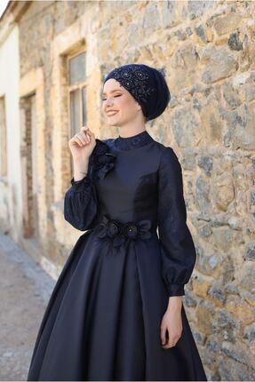 MY DREAMS COLLECTİON Kadın Lacivert Duru Abiye 2