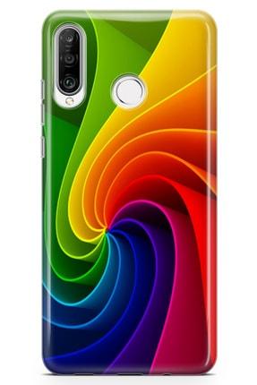 Lopard Huawei Nova 4e Kılıf Rüzgar Gülü Arka Kapak Koruma Desenli Full Koruyucu 0