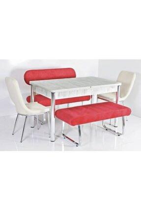 Kaktüs Avm 6 Kişilik Masa Sandalye Takımı Açılır Mutfak Masası Banklı Mutfak Masası Bank Takımı Masa Takımı 0