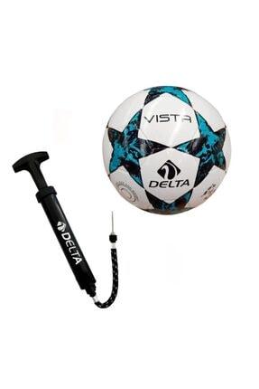 Delta Vista El Dikişli 3 Numara Futbol Topu + Top Pompası 0