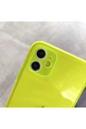 AksesuarLab Iphone 11 Kılıf Kamera Korumalı Kılıf - Sarı 2