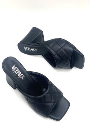 Shoe Miss Siyah Kapitone Terlik 2