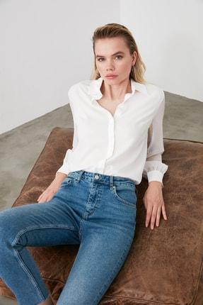 TRENDYOLMİLLA Beyaz Basic Gömlek TWOAW20GO0116 0