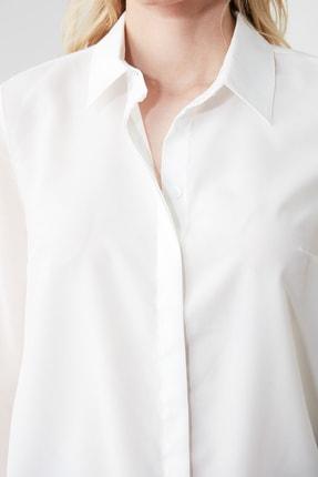 TRENDYOLMİLLA Beyaz Basic Gömlek TWOAW20GO0116 3