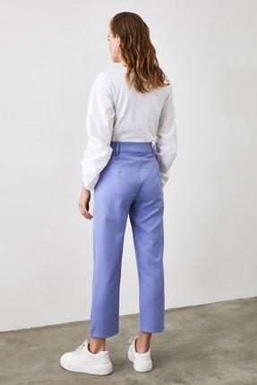 TRENDYOLMİLLA Mavi Kemer Detaylı Pantolon TWOSS19BB0468 3