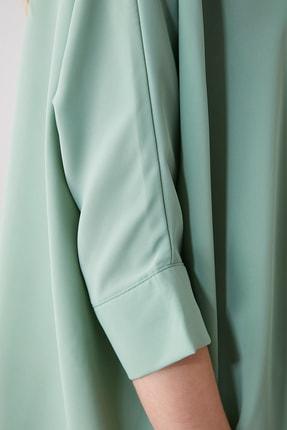 TRENDYOLMİLLA Mint Oversize Gömlek TWOSS20GO0200 3