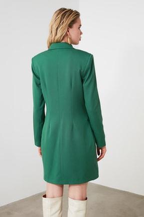 TRENDYOLMİLLA Yeşil Ceket Elbise TWOAW20EL0918 3