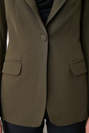 TRENDYOLMİLLA Haki Kısa Blazer Ceket TWOAW20CE0056 3
