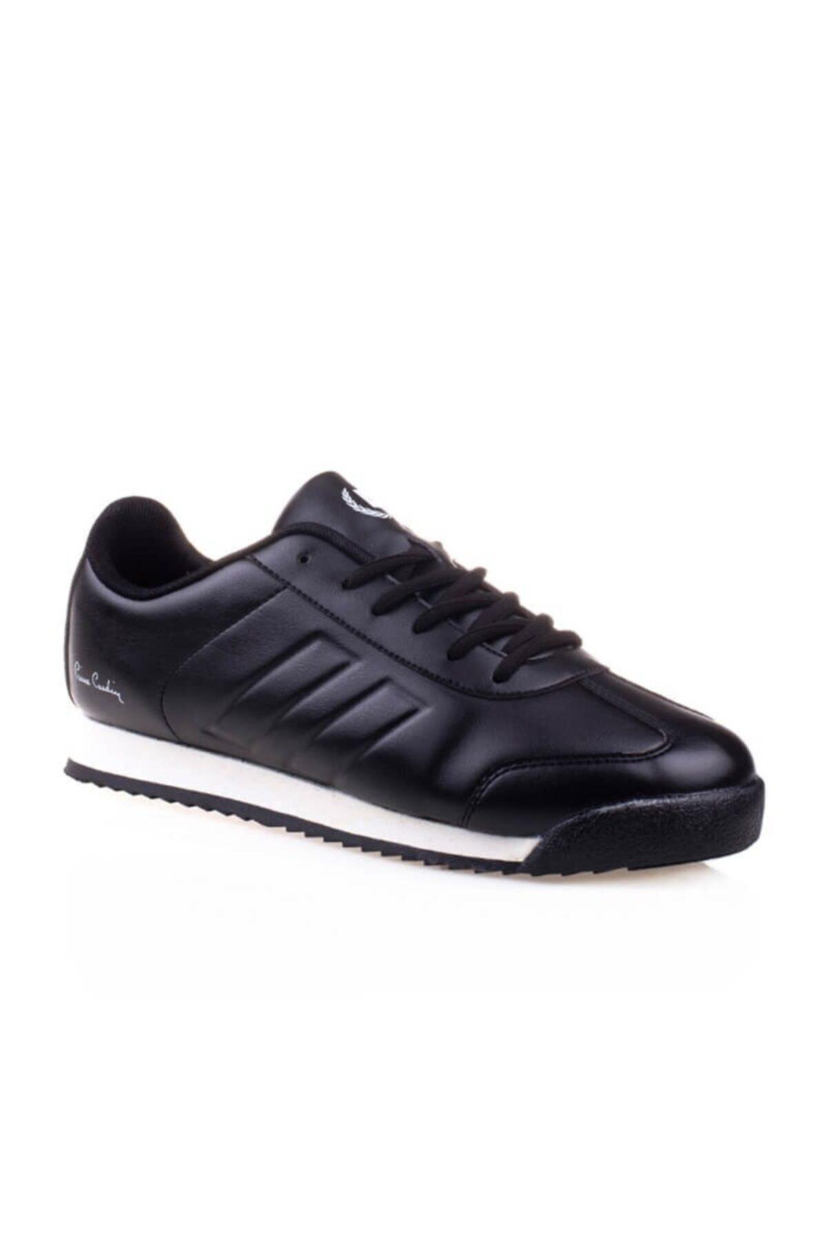 Erkek 4 Mevsim Kauçuk Taban Siyah Spor Ayakkabı