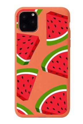 POFHİ Iphone 7 Plus Tatlı Karpuzlar Turuncu Premium Telefon Kılıfı 0