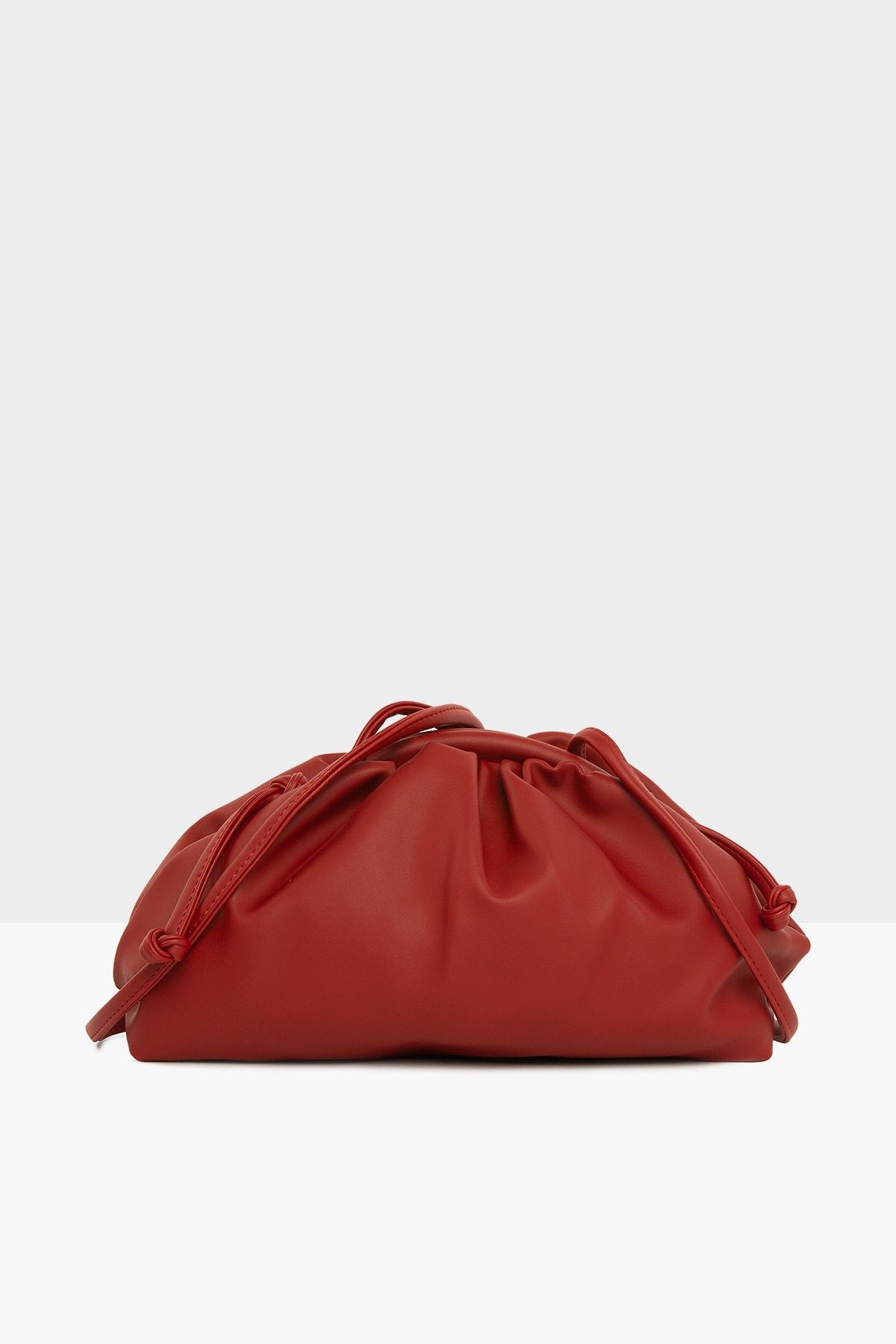 Bagmori Kırmızı Kadın Burslu Küçük Bohça Çanta M000004078 0