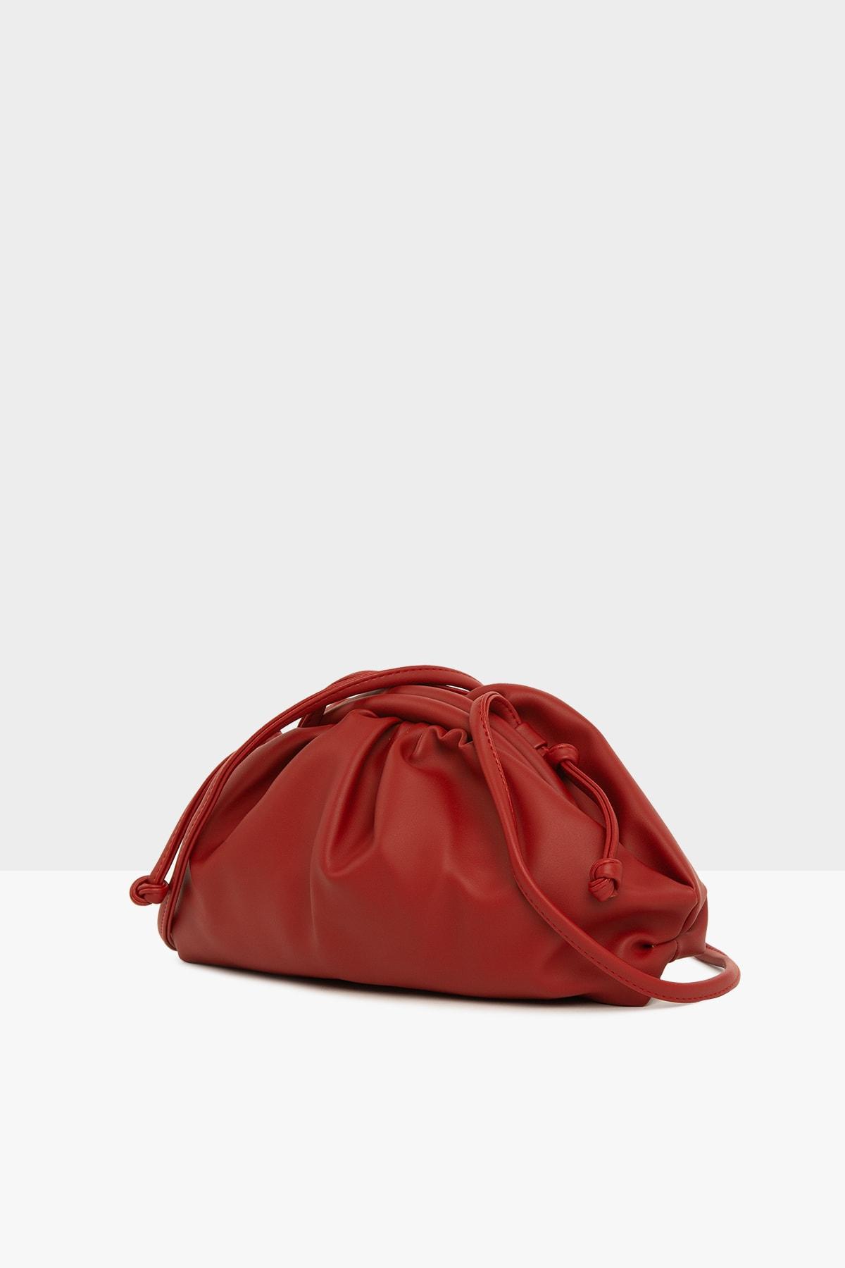Bagmori Kırmızı Kadın Burslu Küçük Bohça Çanta M000004078 1