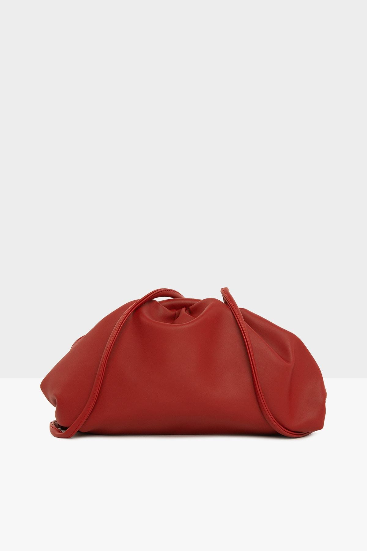 Bagmori Kırmızı Kadın Burslu Küçük Bohça Çanta M000004078 2