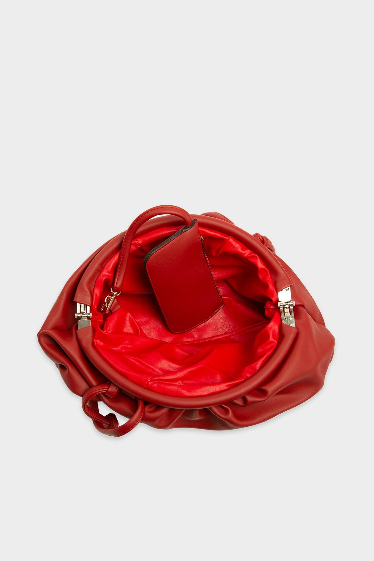 Bagmori Kırmızı Kadın Burslu Küçük Bohça Çanta M000004078 3