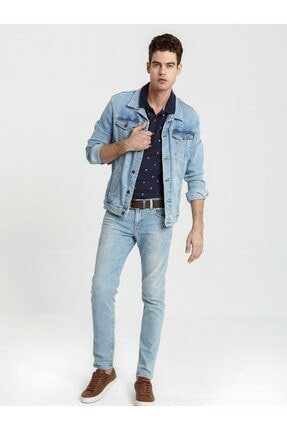 Ltb Erkek  Lacivert Polo Yaka T-Shirt 012198435060890000 2