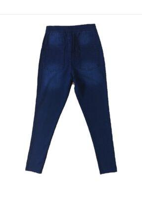 678 Collection Kadın   Koyu Mavi Ful Likra Kot Pantolon 1