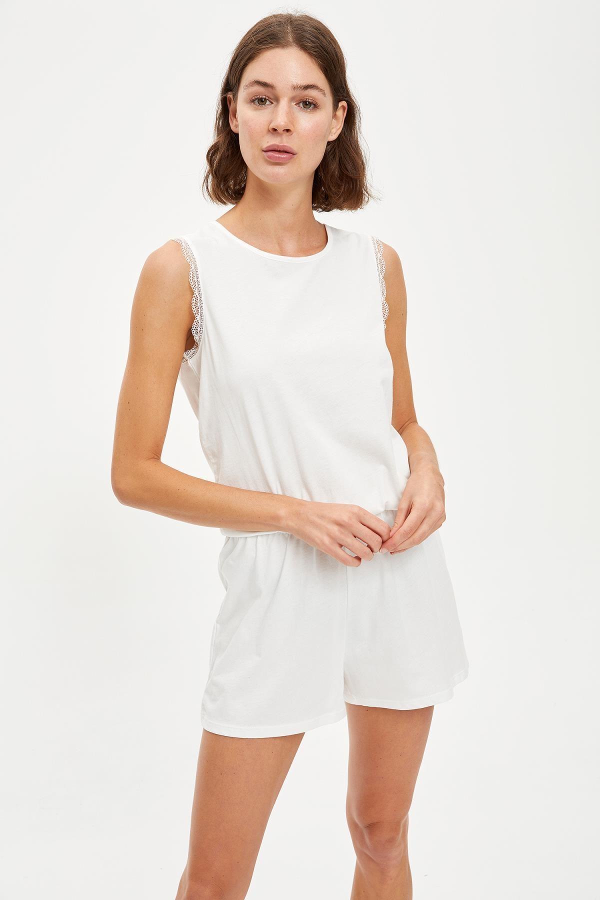 Defacto Oversize Dantelli Tulum Pijama 0