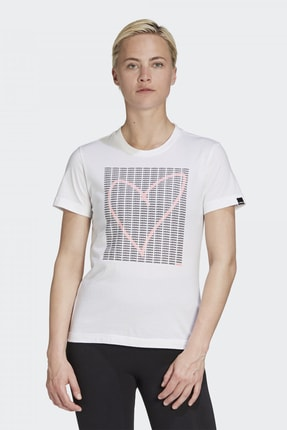 adidas Kadın Beyaz T-shirt 0
