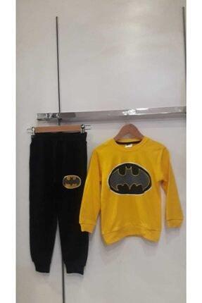 Bella Erkek Çocuk Sarı Batman Eşofman Takım 1