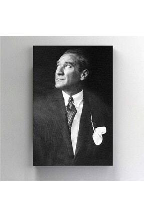 BASKIVAR Istikbal Göklerde Siyah Beyaz Atatürk Portre Dikey Kanvas Tablo - Tablo - Ata-102 2