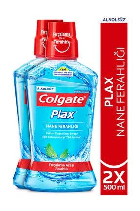 Colgate Plax Nane Ferahlığı Plağa Karşı Alkolsüz Ağız Bakım Suyu 500 ml x 2 Adet 0