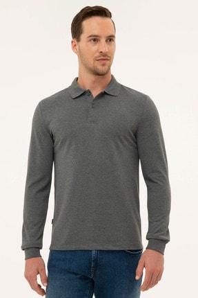 Pierre Cardin Erkek Antrasit Melanj Slim Fit Sweatshirt 0