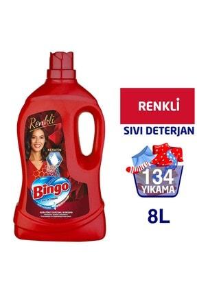 Bingo Renkli Sıvı Bakım Çamaşır Deterjanı 4 lt 2'li 1