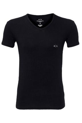 Armani Exchange Erkek Siyah T-shirt 0